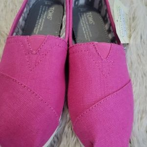 TOMS Classic Women Pink Shoes Size 5
